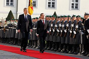 Christian Wulff - With then-President of Russia Dmitry Medvedev.