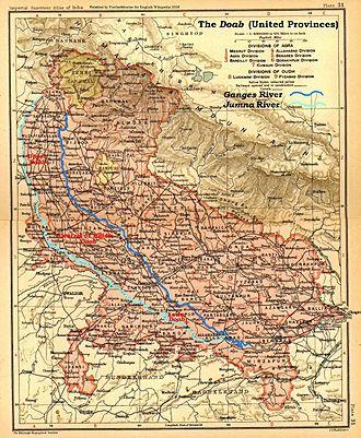 Doab - The Doab, United Provinces, 1908 map
