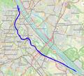 Donaukanal Wien (Vienna) River Path Openstreetmap.png
