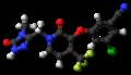 Doravirine molecule ball.png