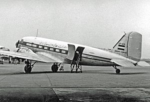 Iran Air - Iranian Airways Douglas DC-3 freighter in 1954