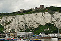 Dover Castle from the harbour.jpg