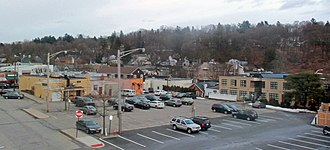 Chappaqua, New York - Downtown Chappaqua from the NY 120 overpass