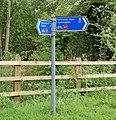 Draycote Water cycleway sign (2) - geograph.org.uk - 1297481.jpg