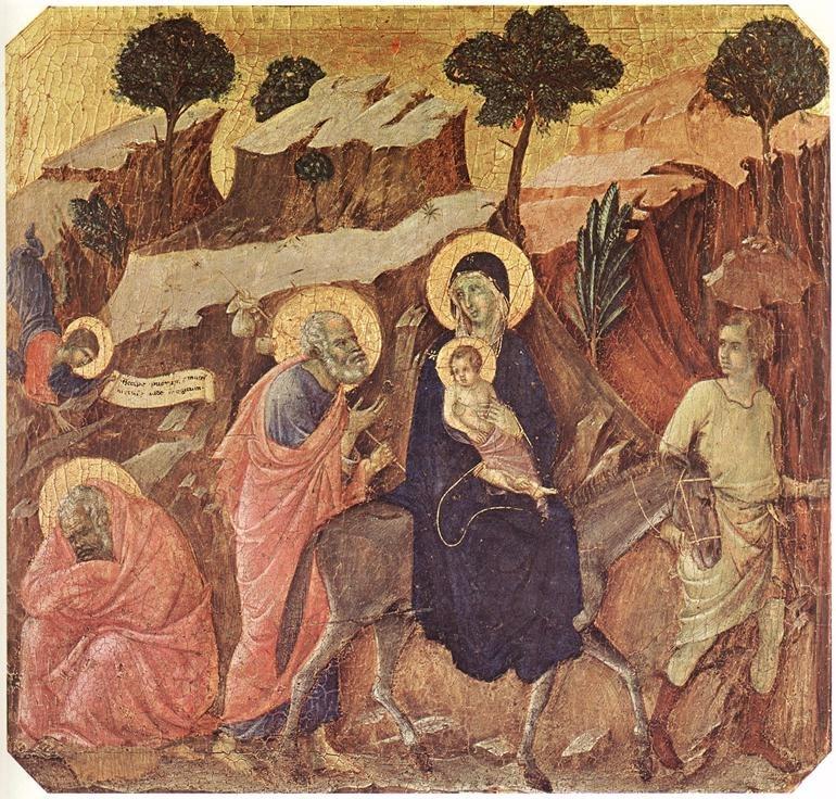 Duccio di Buoninsegna - Flight into Egypt - WGA06766