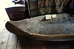 Dugout Canoe, view 1, 18 foot white pine, white man's canoe used on Connecticut River, c. 1710-1745 - Hadley Farm Museum - DSC07651.JPG