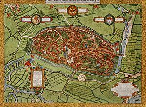 Duisburg - Duisburg Corputius plan 1566