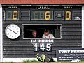 Dunmow Cricket Club scoreboard box, Essex, England 1.jpg