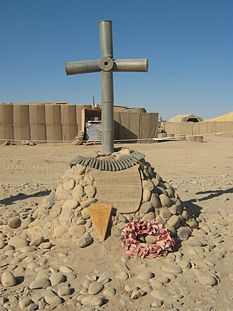 British Forces casualties in Afghanistan since 2001 - Dwyer memorial on Camp Dwyer