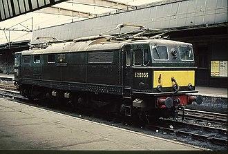 British Rail Class 76 - Locomotive no. E26055 at Sheffield Victoria in 1969.