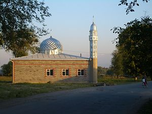 The new mosque in Pervomayskoe village