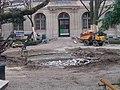 ENS Ulm, réfection du bassin aux Ernests, 2006, détail du bassin.JPG