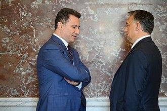 Nikola Gruevski - Gruevski and Viktor Orbán in June 2015