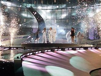 Azerbaijan in the Eurovision Song Contest - Image: ESC 2008 Azerbaijan Elnur and Samir 1st semifinal