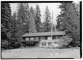 EXTERIOR VIEW, FRONT FACADE - Longmire Administration Building, Longmire, Pierce County, WA HABS WASH,27-LONG,3-1.tif