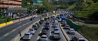 Baruta Municipality - Autopista Prados del Este (Prados del Este Highway), important road in the municipality