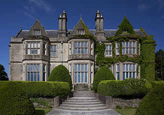 Muckross House - Eastern Facade of Muckross House in Killarney, County Kerry, Ireland. Designed by William Burn and built in 1843.