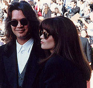 Valerie Bertinelli - Eddie Van Halen with Bertinelli in 1991.