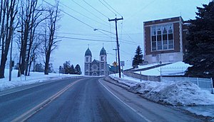Keeseville, New York - St. John's Catholic Church, designed in the French Gothic style