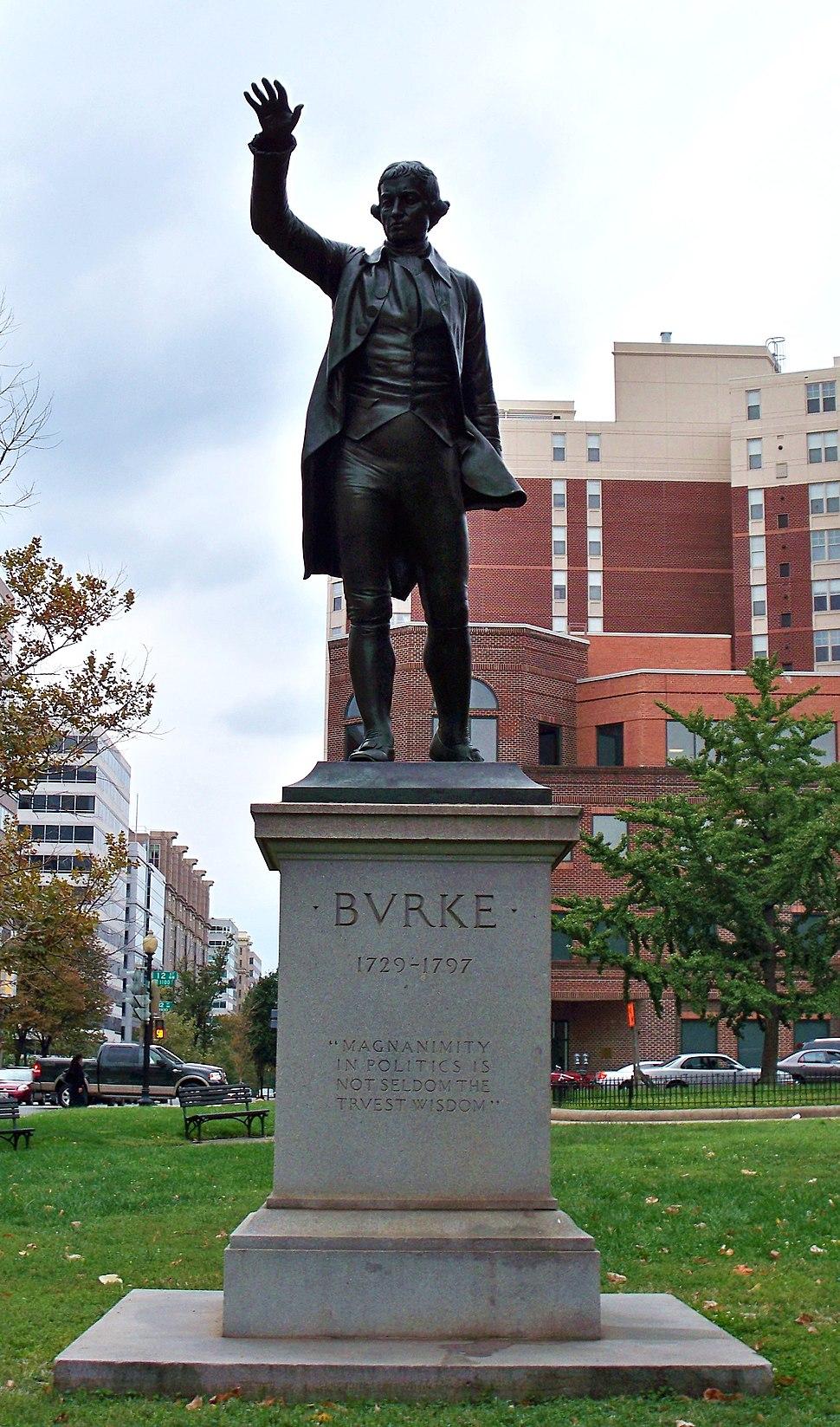 Edmund Burke statue by Matthew Bisanz