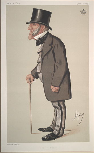 "Edmund Hammond, 1st Baron Hammond - ""Foreign Policy"". Caricature by Ape published in Vanity Fair in 1875."