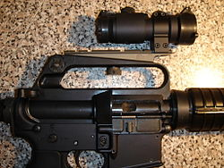 Eds Colt SMG 635 right side, ML 2 sight, Colt mount.jpg