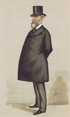"Edward Bruce Hamley - ""English Strategy"" Lt-General Hamley as caricatured by Ape (Carlo Pellegrini) in Vanity Fair, April 1887"