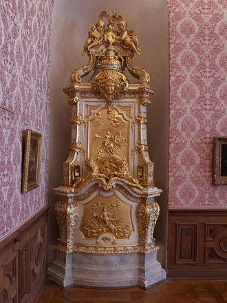 Joseph Effner - Cockle stove by Joseph Effner, Schleissheim Palace (ca. 1720)