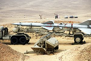 Egyptian S-75 SAM transported by truck.JPEG