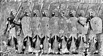 Battle of Artemisium - The heavily equipped Egyptians fought successfully against the Greek hoplites.