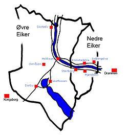 kart over nedre eiker Nedre Eiker – Wikipedia kart over nedre eiker