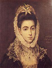 Retrat de dama amb una flor al cabell