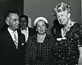 Eleanor Roosevelt at United Jewish Appeal of Greater New York's Person To Person event.jpg