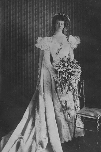 Eleanor Roosevelt - Roosevelt in her wedding dress, 1905