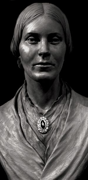 Elizabeth Buffum Chace - Bronze bust in the Rhode Island State House