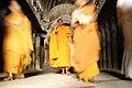Ellora Caves, India, Buddhist monks.jpg