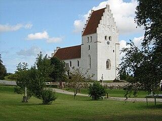 Elmelunde Church church building in Vordingborg Municipality, Denmark