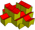 Elongated gyrobifastigium concave honeycomb.png