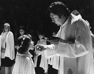 First Communion Christian Eucharistic sacrament, typically occurs between the ages of seven and thirteen