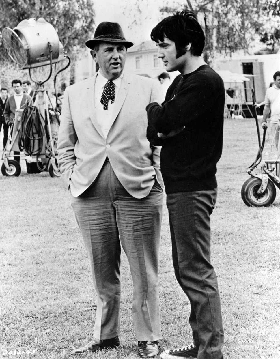 Elvis Presley and Colonel Tom Parker 1969