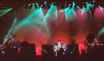 Emerson, Lake & Palmer were one of the most commercially successful progressive rock bands of the 1970s. They are seen here performing in 1992. Emerson, Lake & Palmer 01.jpg