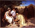 Emile Levy Abraham lavant les pieds aux trois anges.JPG