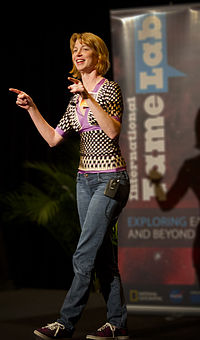 Emily Lakdawalla at FameLab at LPSC 2013 cropped adjusted.jpg