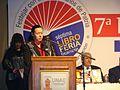 En la apertura de la libroferia siendo la Presidenta de la Comisión de Apoyo a la Conmemoración del Bicentenario de la Independencia del Paraguay.jpg