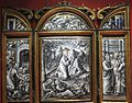 Enamel triptych with Agony in the Garden, Harrowing of Hell, and Incredulity of Thomas by Pierre Reymond.JPG