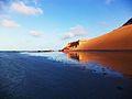 Encontro da duna com o mar.JPG