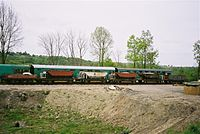Engineering wagons at Horsted Keynes.JPG