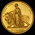 England (UK) 1839 5 Pounds (Una and the Lion) (rev).jpg