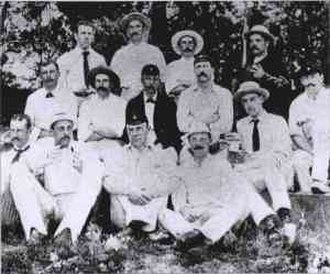 English cricket team in South Africa in 1888–89 - The English cricket team at the start of the tour.