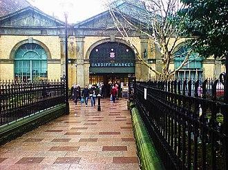 Cardiff Market - Trinity Street entrance to Cardiff Market